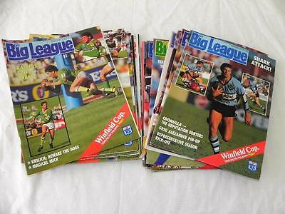 18pc Collectable Mixed Big Leauge N.S.W Football  MAGAZINES