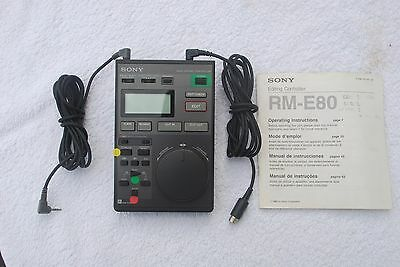 SONY Video Editing Remote Controller RM-E80 with infrared control & wired