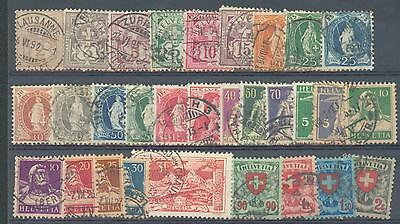 Switzerland 1892-1924 card used  STC at least £130