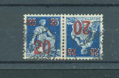 Switzerland 1921 Tete-beche pair sg.315a used