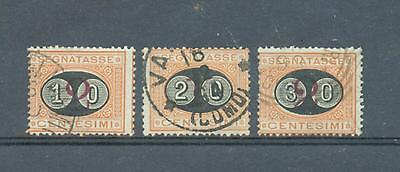 Italy 1890 Postage Dues surcharged sg. D47-9 used