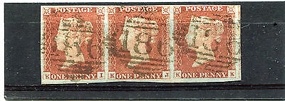1841 Sg8 Pl 61 Strip Of 3 With Margins No Fold No Thin Very Fine