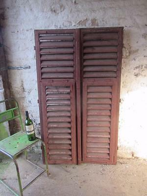 Vintage Wooden French Shutters Free Post Shabby Window Free Post  Pair Original