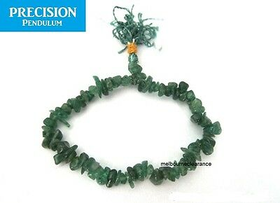 Emerald Jade Chips Stretch Healing Bracelet + Pouch Power Gemstone Crystal Bead
