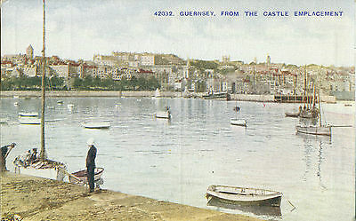1920s Postcard GUERNSEY from the Castle Emplacement