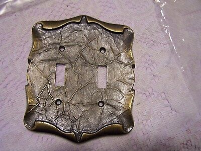 AMEROCK CARRIAGE HOUSE  Brass Double Light Switch Cover Plate #3