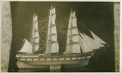 1920s Postcard Model of a sailing vessel, location unknown