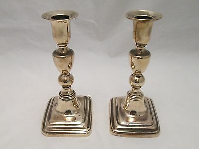 A Small Pair of Early 19th Century Brass Candlesticks