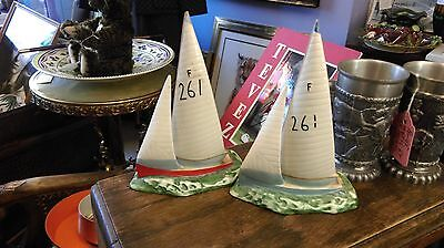 Beswick Firefly Dinghy, a pair, Model 1610, dated 1960-1962