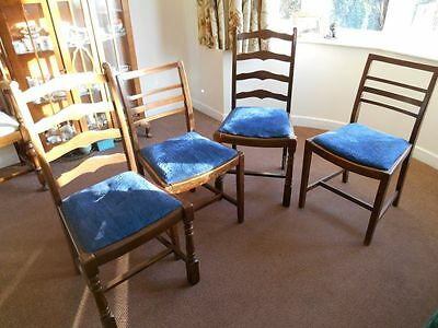 Four 1930's dining chairs