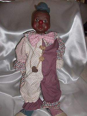 """Sarah's Attic  Collectible """" WILLIE CLOWN DOLL"""" African American Figurine"""