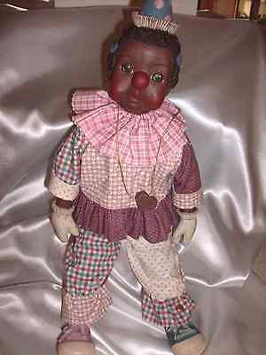"""Sarah's Attic  Collectible """" TILLIE CLOWN DOLL"""" African American Figurine"""