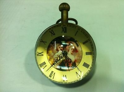 Work CHINESE OLD BRASS GLASS pocket watch BALL clock have picture