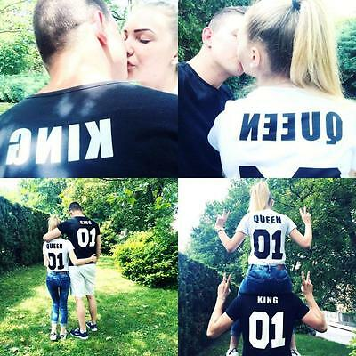 Couple T-Shirt King 01 and Queen 01 - Love Matching Shirts - Couple Tee Tops  GT