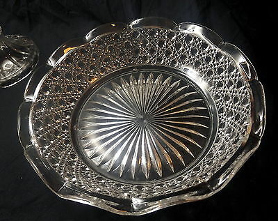 Round Glass Serving Bowl. Size 24 x 6 cm