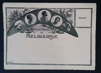 Rare Undated Souvenir of Melbourne Fold Out Photo display From White Star Line