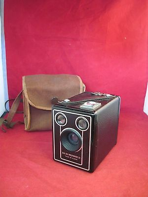 Vintage Box Camera.Six- 20 ' Brownie' D Made by Kodak.Original Case