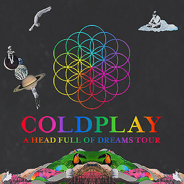 COLDPLAY | SYDNEY | 2x ADMIT SILVER SEATING TICKETS | WED 14 DEC 2016 5:30 PM
