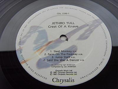 JETHRO TULL CREST OF A KNAVE 1st Press UK LP IMMACULATE MINT- PLAY COPY