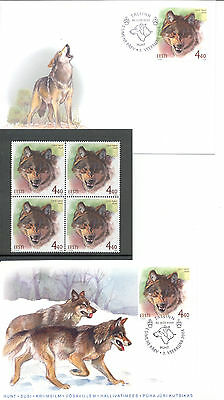 Estonia FDC and Quartblock of Stamps 2004 MNH**