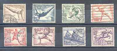 Lot of Used German Reich Olympic Stamps 1936