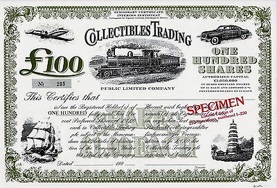 Collectibles Trading Public Limited Company, 199_ - SPECIMEN (100 Pfund L.Ed.)