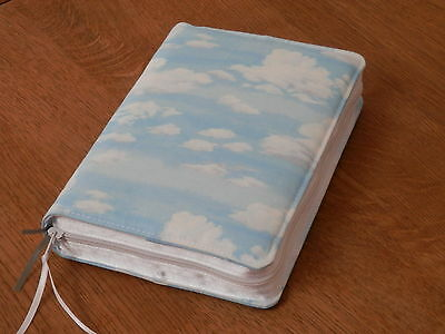 New World Translation 2013 Zipped Fabric Bible Cover - Clouds
