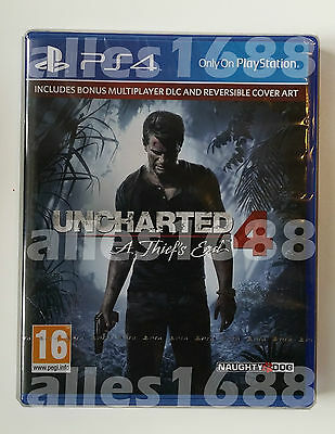 PS4 Uncharted 4: A Thief's End - Brand NEW and Original Sealed