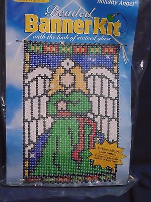 The Beadery Holiday Angel Beaded Banner Kit - New Unopened Look Of Stained Glass