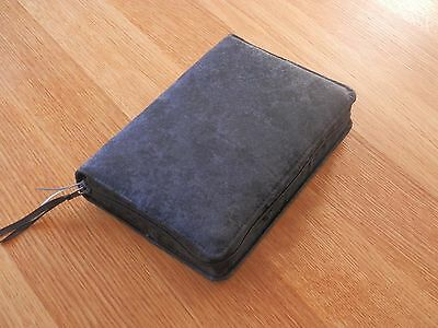 New World Translation 2013 Zipped Fabric Bible Cover - Black/Grey Marble Effect