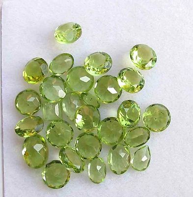 21.80 Cts Natural Peridot 6 MM Round Cut Faceted Loose Gemstone Lot