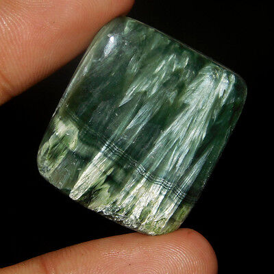 34Cts  Magnificent A+ 100% Natural Serphinite 29X26 Cabochon