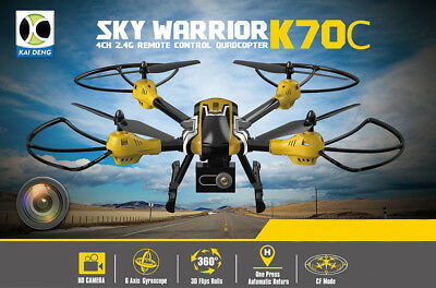 KAIDENG K70C Sky Warrior RC Quadcopter 2.4G 6 Axis Gyro 3D Flip Headless Camera