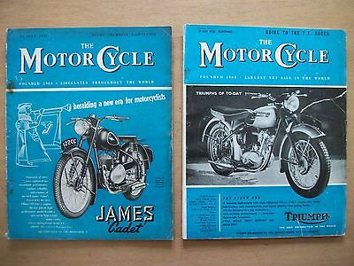 """ The Motor Cycle"" Magazines 23 July '53 & 31 May '56.  Tt Guide"