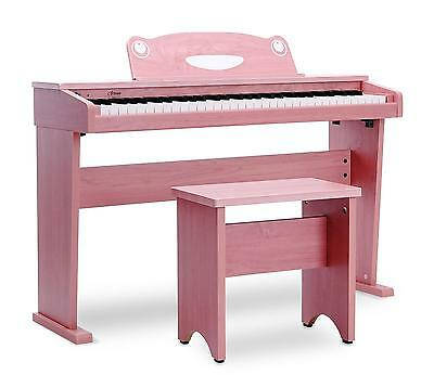 Piano Numerique Clavier Digital Electronique 61 Touches Set Debutants Banc Rose