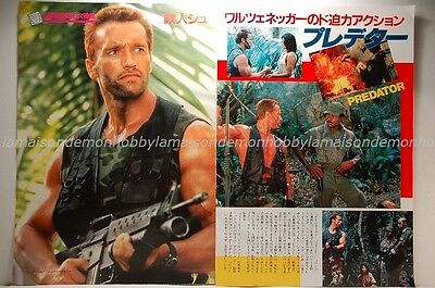 Arnold Schwarzenegger PREDATOR clipping 1987 2pages:d7us