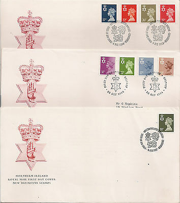 GB: 1984/87/90, Northern Ireland; Definitives, First Day Covers