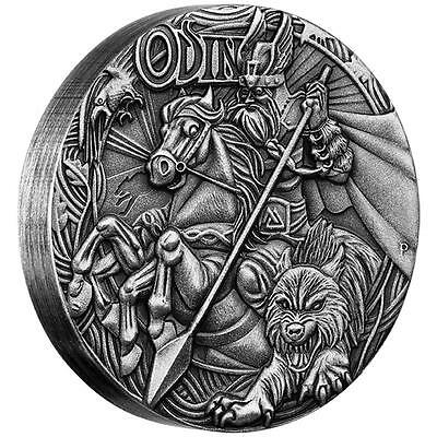 Perth Mint Norse Gods Odin 2016 2oz Silver High Relief Antiqued Coin