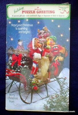 Vintage Hallmark Muppets Holiday Puzzle Greeting Card Original Package Unopened