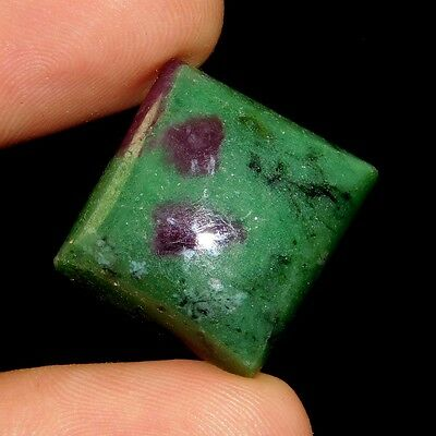 32 Cts Gorgeous Elegant Ruby In Zoisite 18X17 Cabochon Gemstone