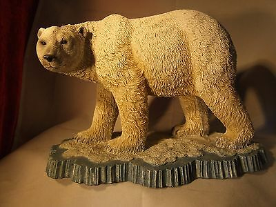 Large male Polar Bear resin figurine in superb condition.