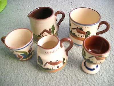 "Torquay ""mottoware"" Collection Of Five Items"