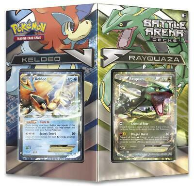 Pokemon TCG Battle Arena Decks: Rayquaza vs. Keldeo: 2 x 60 Cards Complete Decks