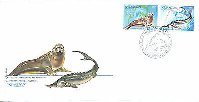 Kazakhstan FDC 2002 and stamps booklet (Joint issue Kazakhstan - Ukraina)