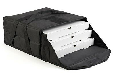 "Case of 5 Pizza Bags (each Bag holds 3-4 16"" or 18"" pizzas) Black"