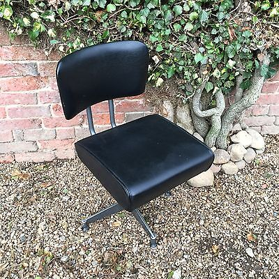 Rare Hostess Vintage Industrial Retro Mid Century Metal Swivel Office Desk Chair