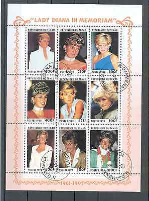 Chad - Souvenir Sheet Lady Diana in Memoriam 1998 MNH**
