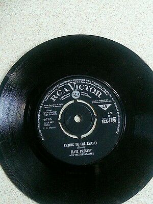 Crying in the Chapel Elvis Presley 45rpm record