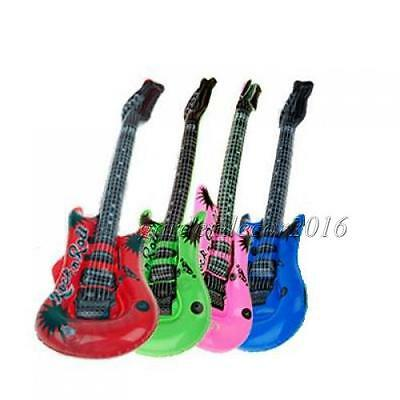 2 Pcs Inflatable Guitar for Rock N Roll Party Fancy Dress Kid Party Prop Toy