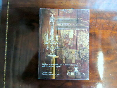 Christies Catalogue.Fine Furniture in New York, USA. Tuesday January 29th 1991